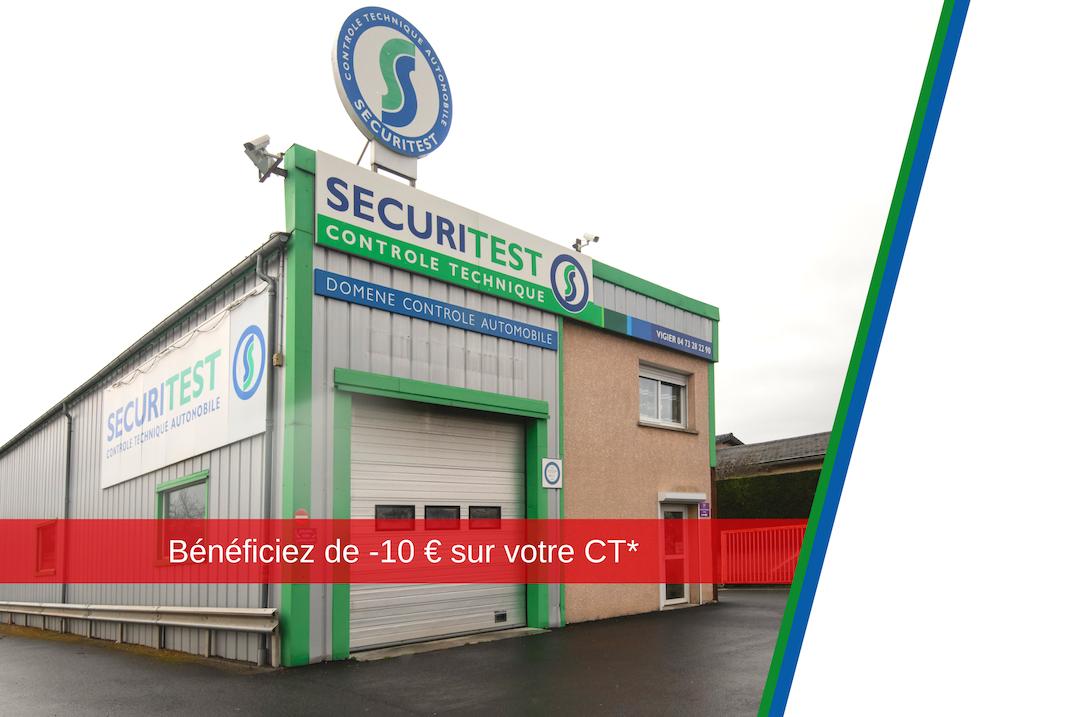 centre de contrôle technique sécuritest Romagnat