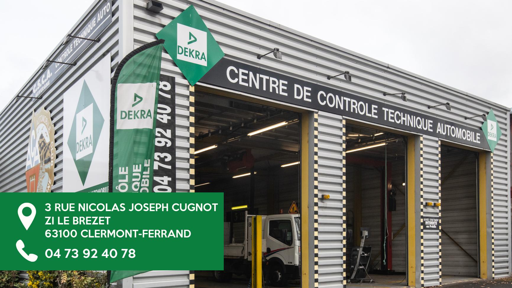 Centre de contrôle technique dekra Clermont Ferrand
